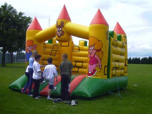 Bouncy castle.