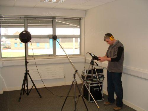 Sound Insulation Test in Progress