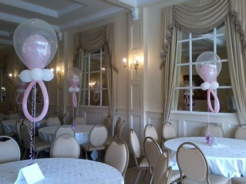 Christening dummy table decorations