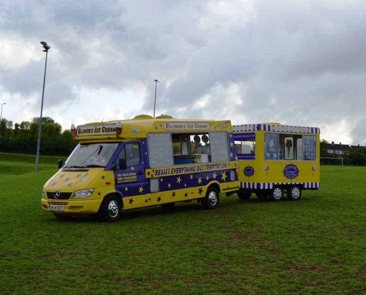 Ellinors Ice Cream van Hire with Ice Cream Kiosk
