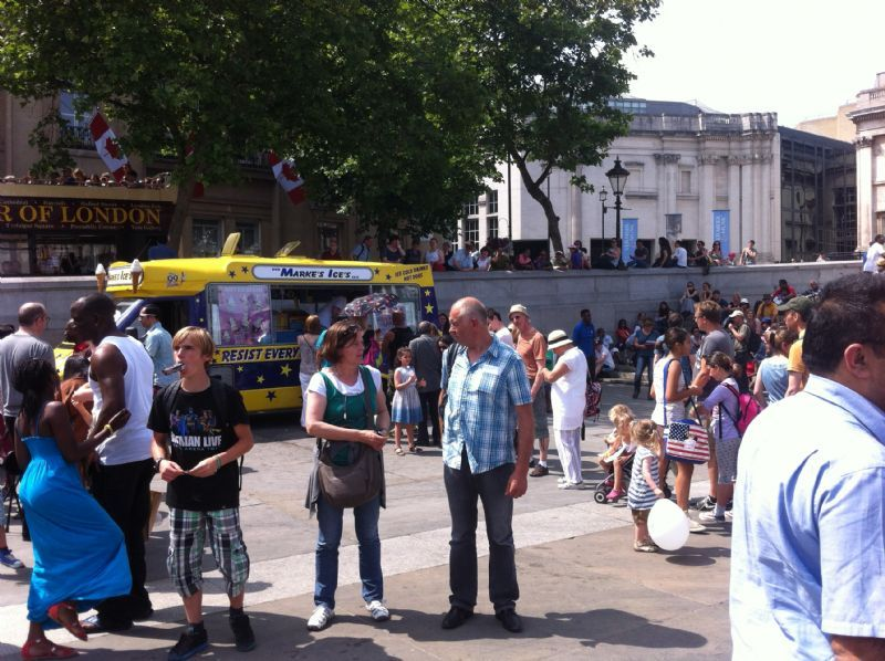 ice cream van in Trafalgar square