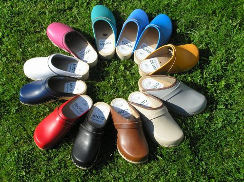 The full colour range of our clogs