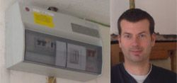 Phil Greenman, a happy customer after we upgraded his fuse board & earth bonding to gas & water services.
