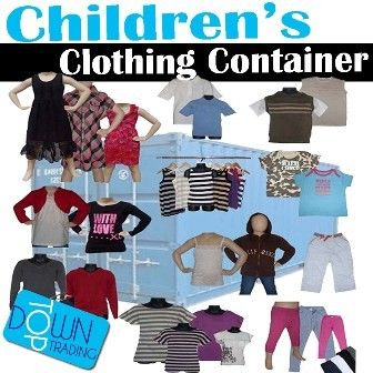 Children's Ex Chain Store Clothing Container and Pallet Offers Available
