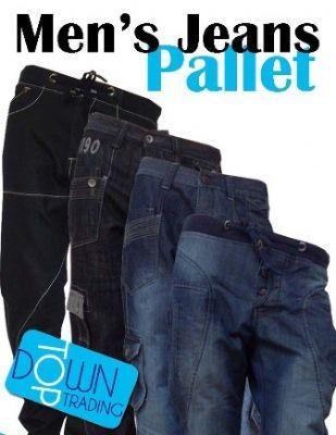 Men's Mixed Ex Designer Denim Jeans Pallet - Assorted Colours MNSDJPL