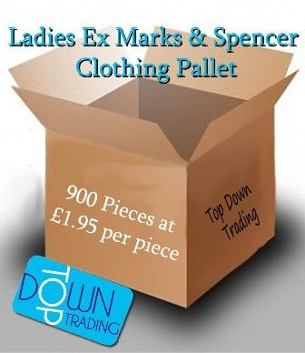 Ladies Ex Marks and Spencer Mixed Clothing Pallet