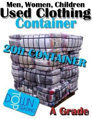 20 Foot Used Clothing Container A Grade For Men, Women and Children