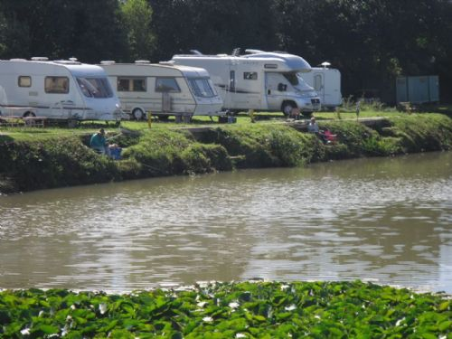 Caravan cl site situated very close to the fishing pond.