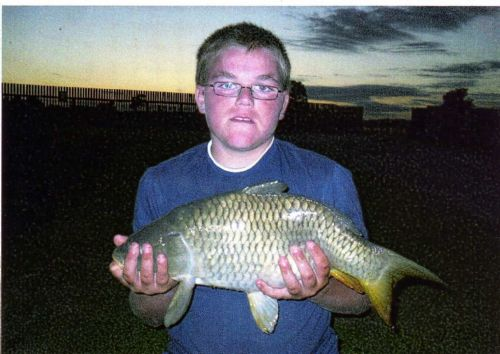 Gary's brother Craig with an 8lb Carp