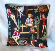 One of their kitsch cushions