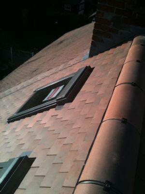 Dry ridge ventilation system on clay tuscan humber tiles and duracoat segmental ridge
