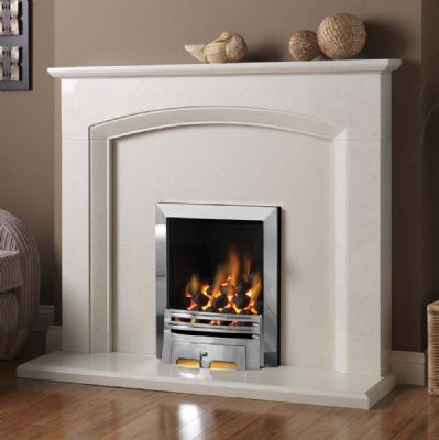Pureglow Gas fires and Electric fires complete with Fireplace, Back panels and hearths