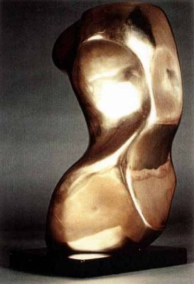 Deirdre Hubbard - Polished bronze torso