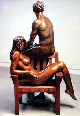 Ronald Cameron - Lady with Man on Chair