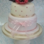 Anemone flower two tier cake