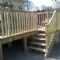 Raised decking. Constructed in the Loire Valley, France