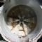 The inner of the drum on a hotpoint. Getting prepared for new bearings and drum spider.