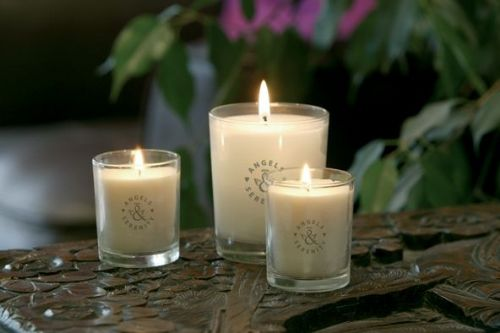 Serenity pure natural aromatherapy candles made with vegetable wax and handmade cotton wicks. - Complementary Therapists Harrogate