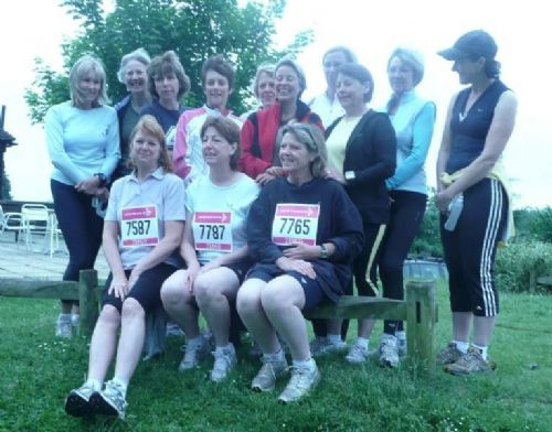 The Monday morning group after the 5k Race for Life - Sport Coaches Sevenoaks
