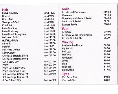 Pin unisex salon price list on pinterest for X salon mulund rate card