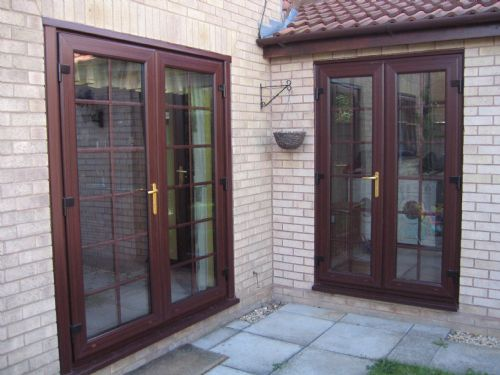 Clearvision conservatory company in peterborough uk for Upvc french doors with georgian bar