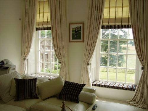 Curtains With Matching Roman Blinds Black Blinds with Curtains