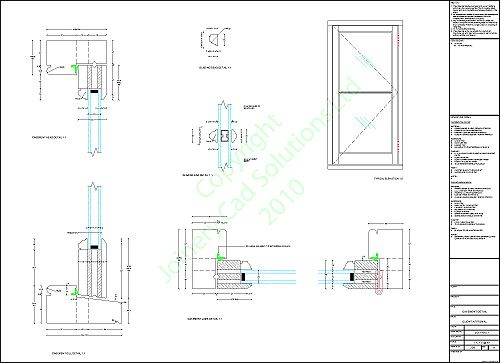 Casement Window Drawing : Manufacturing detail drawings solution