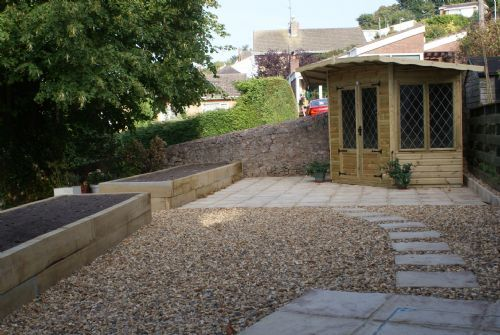 Shipshape landscape landscape gardener in llandudno uk for Low maintenance gravel garden