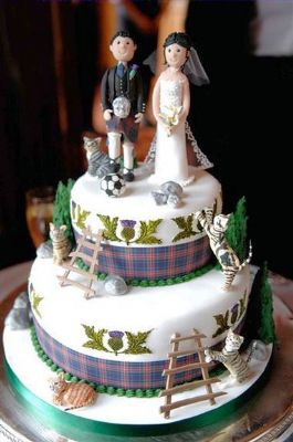 Rainbow Sugarcraft Wedding Cake Maker In Peebles Uk