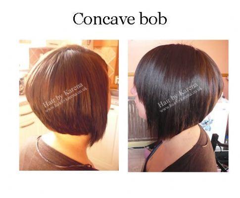 ... concave bob hairstyle stacked bob haircut back view stacked bob