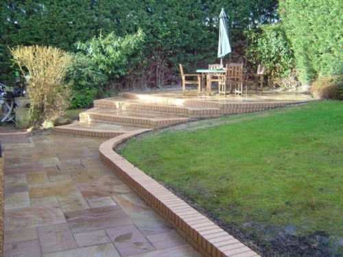 Green onion landscaping landscape gardener in stockton for Garden decking middlesbrough