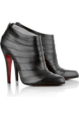 usa replica shoes - christian louboutin pleated leather booties, louboutin spiked sneakers