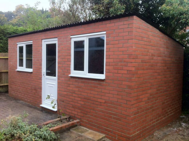Brick shed cost for Brick garage plans