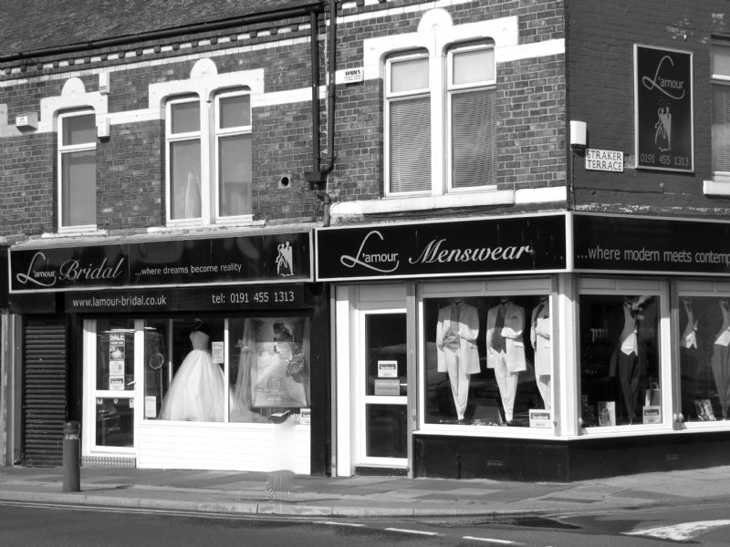 amour Bridal & Lamour Mens Formal hire next food to each other ...