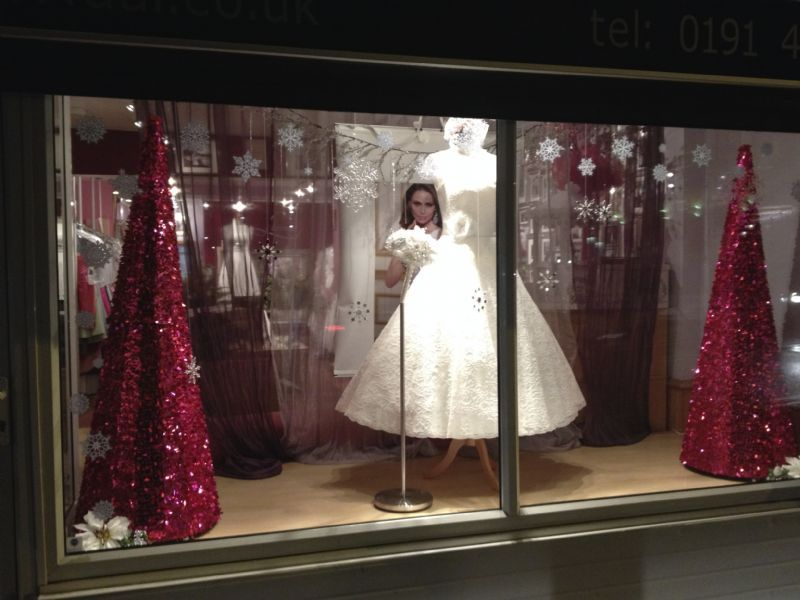 One of many Lamour Christmas windows.
