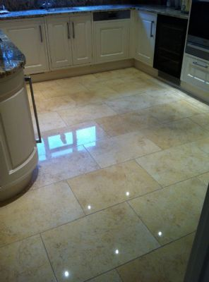 how to clean spots marble floor
