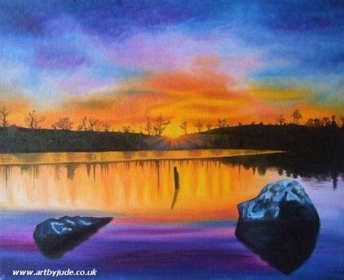 A Time For Reflection charity painting - Artists Oswestry