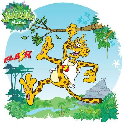 Junglemania Character Design 'Flash' - Cartoonists Hastings