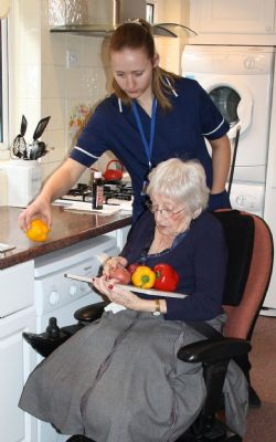 Preparing a meal - Healthcare Services Wimborne