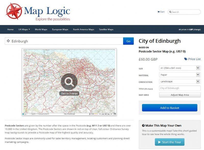 buy postcode maps and lists map logic business data. Black Bedroom Furniture Sets. Home Design Ideas
