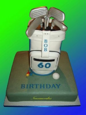 Golf Bag Cake - Cake Designers Bromley