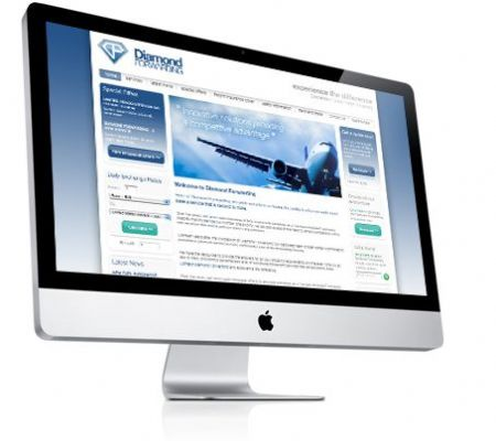 Diamond Forwarding Website - Website Design Companies Camberley