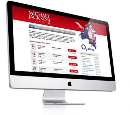 Michael Jackson - This is It - Ticket Sales website - Website Design Companies Camberley