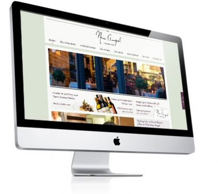 Website for Michelin Starred Restaurant - The New Angel - Website Design Companies Camberley
