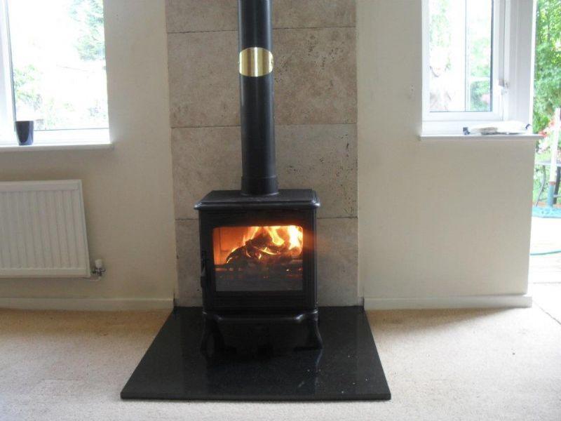 Back splash tile over stove