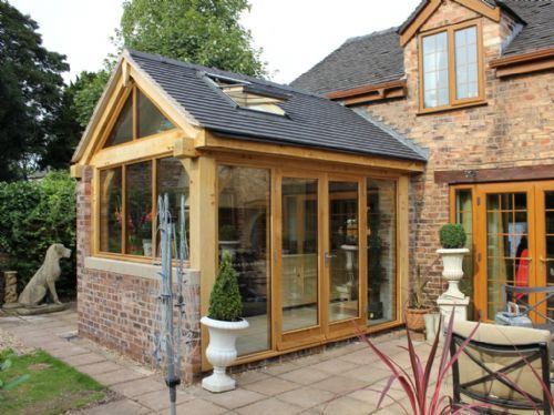 Cheshire oak structures timber frame contractor in for Garden rooms cheshire
