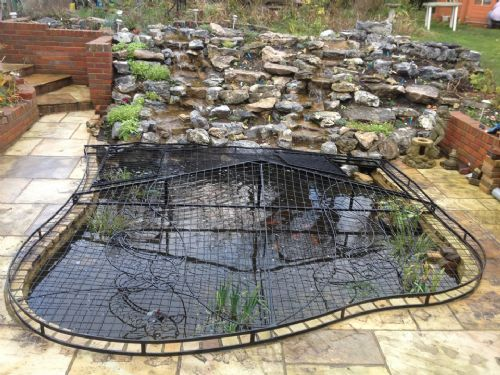 Elite pond covers metal fabrication company in for Garden pond safety covers