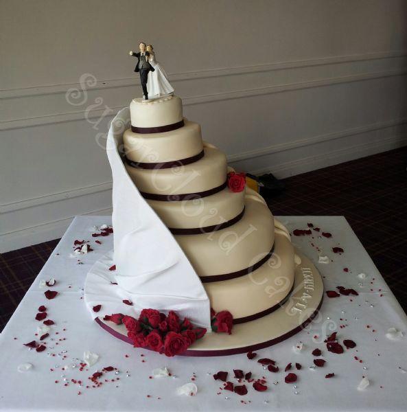 Wedding Cake With Staircase Sugar Cloud Cakes Designer In Haslington Crewe Uk