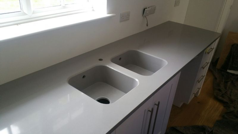Stone valley work surfaces stonemason in astley for Silestone sink reviews