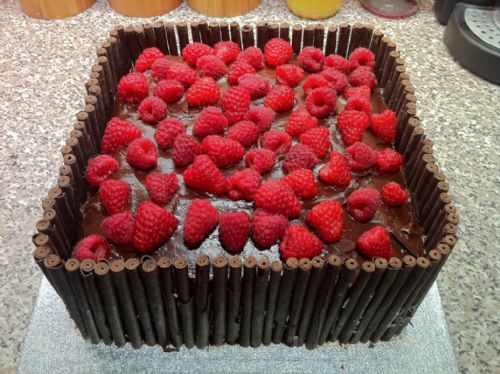 Double chocolate and raspberry cake - Occasion Cake Makers Chessington